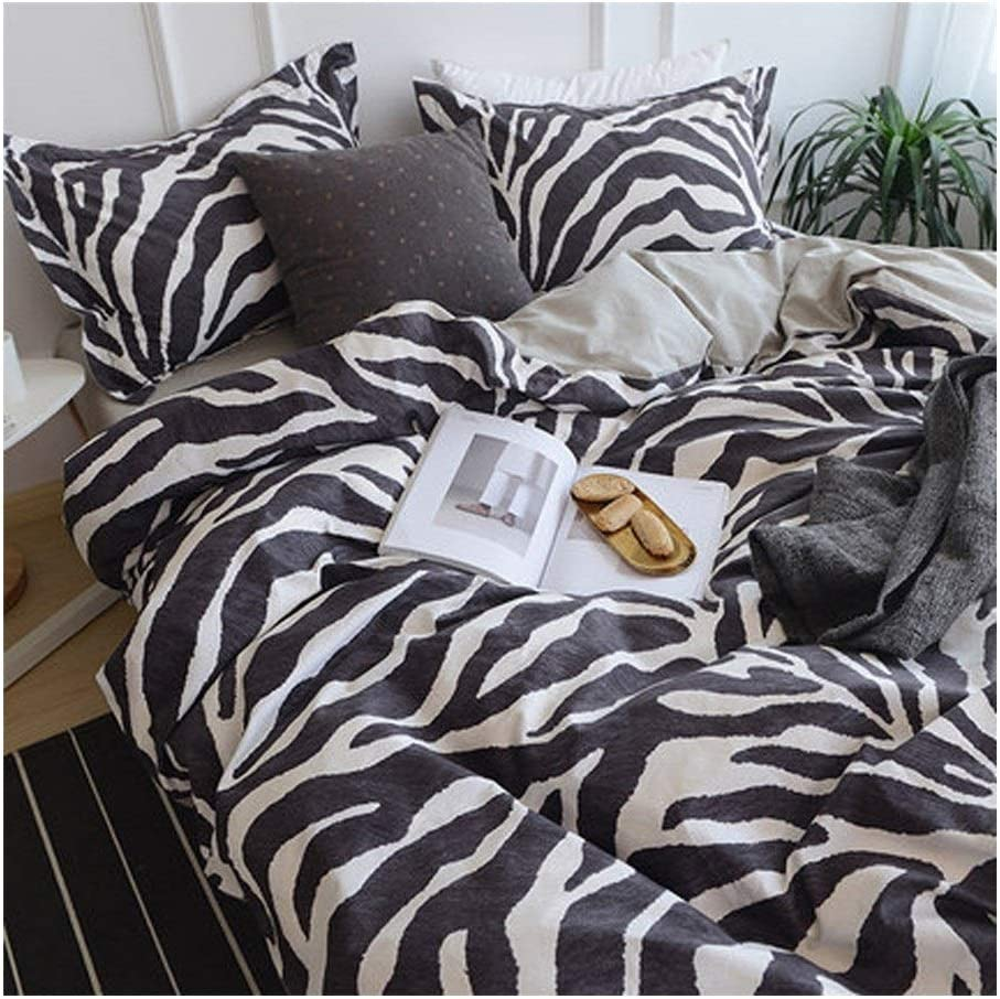 Bedding Set of 4 Soft and Anti-Allergic Bedroom Home Textile Geometric Pattern Q-20-4-30 (Color : Style-K, Size : 5ft(1.5m) Bed)