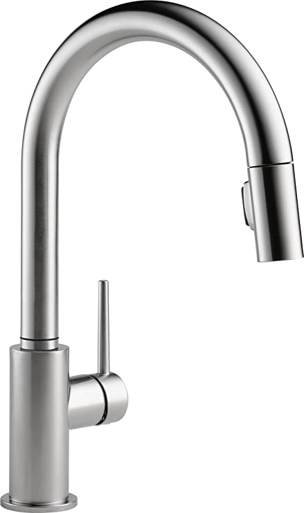 delta faucet trinsic single handle kitchen sink faucet with pull rh amazon ca kohler kitchen faucets canada kitchen faucets canada online