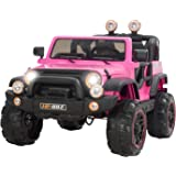 Uenjoy Kids Electric Power Wheels 12V Ride on Cars with Remote Control 2 Speed Pink