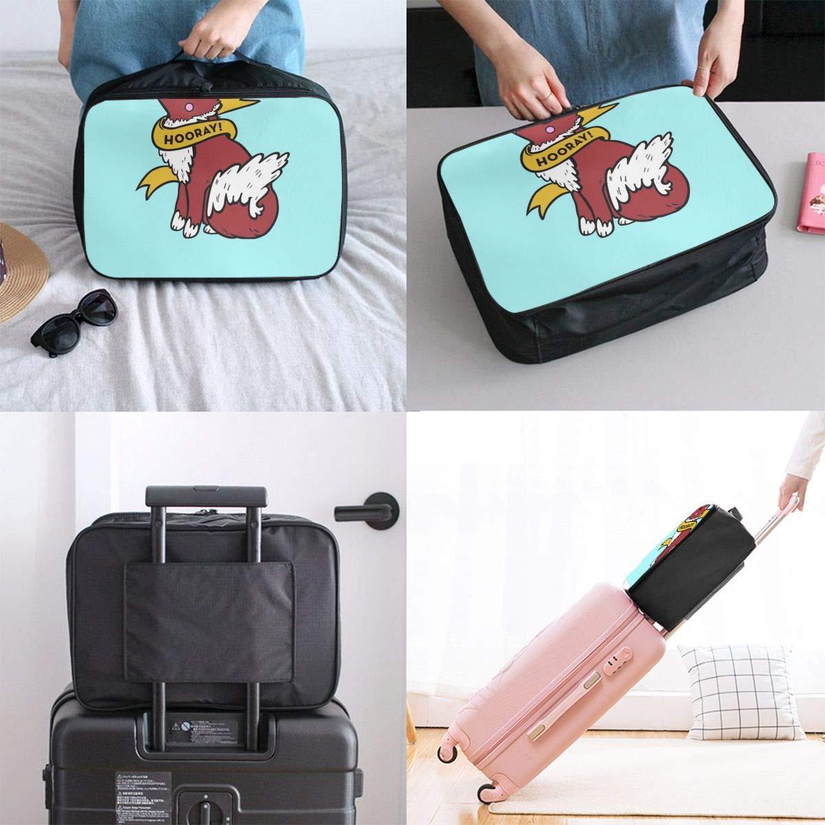 Wolf Dog Enamel Pin Mercat Customize Casual Portable Travel Bag Suitcase Storage Bag Luggage Packing Tote Bag Trolley Bag