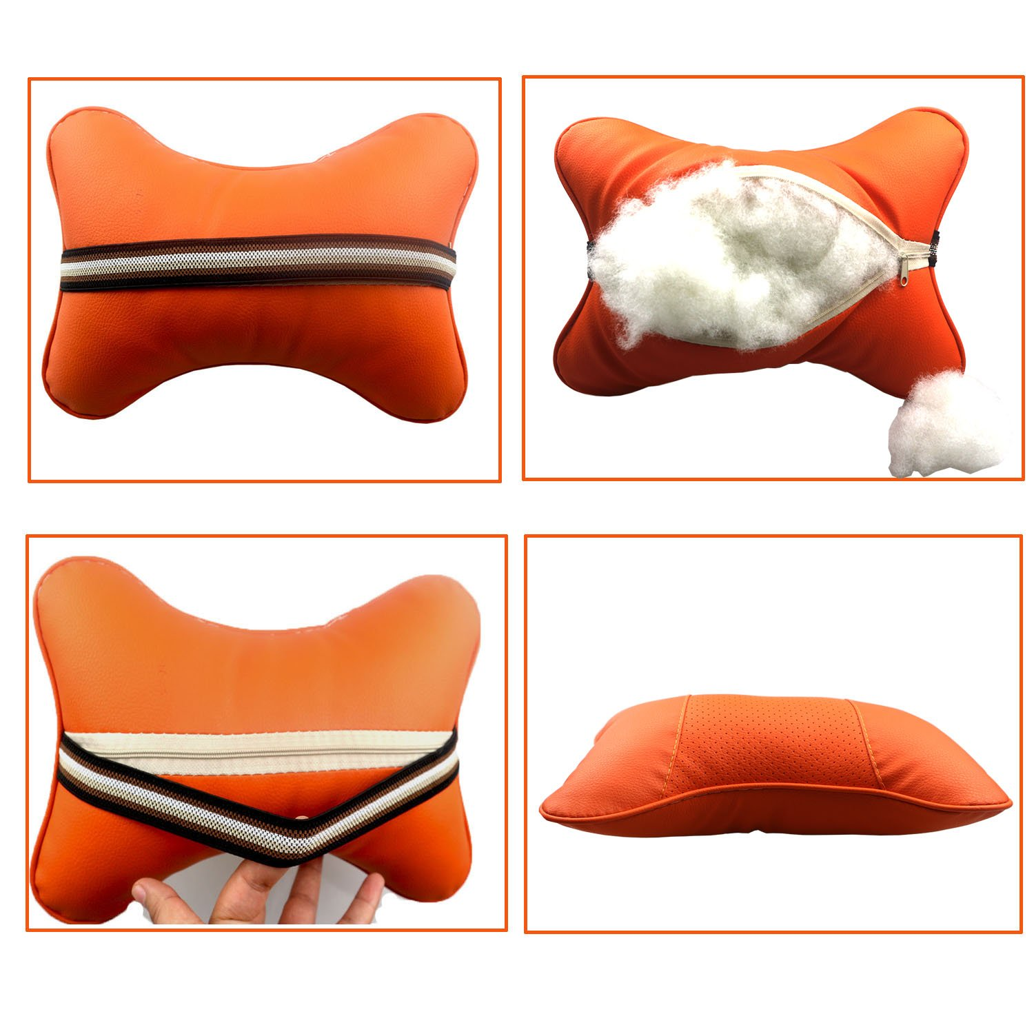 Driving Comfortable and sBreathable Auto Head Rest Cushion Relax Support Headrest Comfortable Soft Pillows Car Protect Neck/&Vertebra in Travel//Office//Home//car Bosoner Car Neck Pillow Bosoner Neck Pillow 2 pcs Black