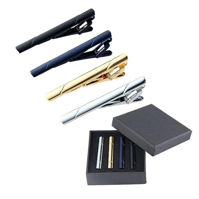 Leegoal - 4 pinzas para corbata, corbata, corbata, corbata, pinzas ...