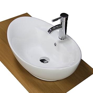 Badezimmer Waschbecken Keramik weiß Schiff zinntheken ...