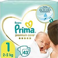 Prima Bebek Bezi Premium Care 1 Beden 43 Adet Yenidogan Ekonomi Paketi