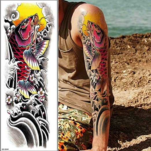 tzxdbh 3 Unids-Tatuaje Temporal Manga del Brazo del Tatuaje ...
