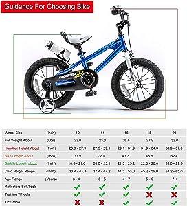 Kids bikes size guide