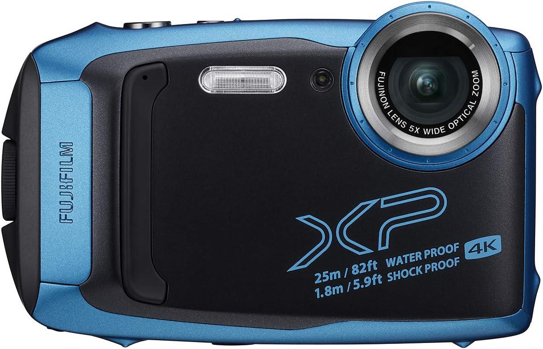Fujifilm FinePix XP140 Waterproof Digital Camera w/16GB SD Card - Sky Blue