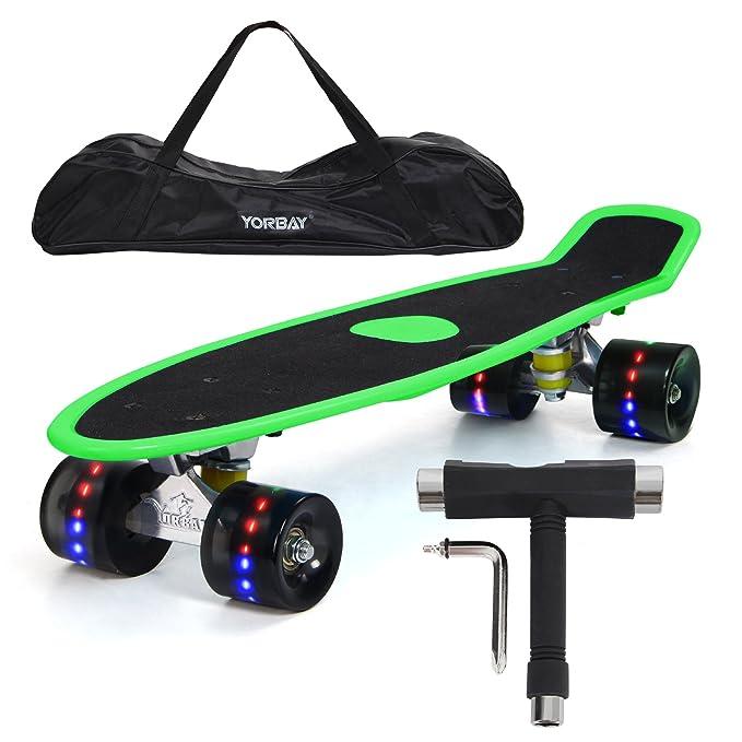 """41 opinioni per Yorbay 22"""" Mini Cruiser Skateboard Cuscinetti a Sfera ABEC-7 Vari Colori e"""