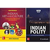 Indian Polity by M. Laxmikanth and Indian Art and Culture by Nitin Singhania for Civil Services Examination (Set of 2 Books)