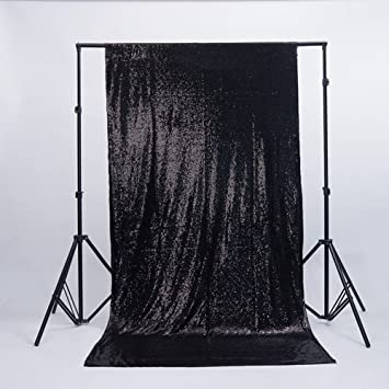 Zdada Black Sequin Backdrop Youtube Background Makeup 4ftx65ft