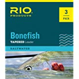 RIO Products Leaders Bonefish Knotless Leader 10' 12Lb 6kg 3PAK, Clear