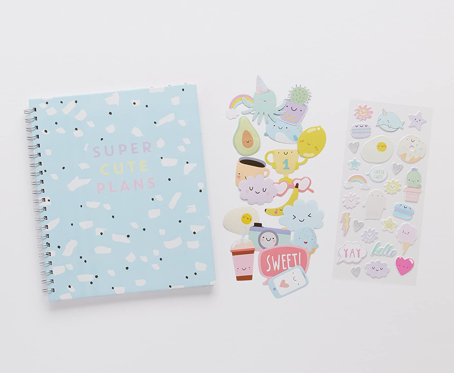 LaurDIY Kawaii Collection Monthly School Planner and Cute Sticker Sheet Agenda C.R Gibson MP100-21729AZ 170 Pages