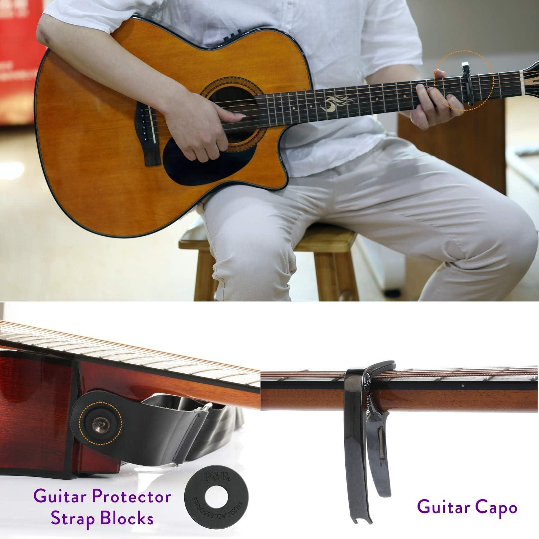 Cejilla de guitarra para guitarra acústica, guitarra eléctrica ...