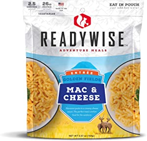 Wise Company ReadyWise Mac & Cheese   Backpacking and Camping Freeze Dried Food