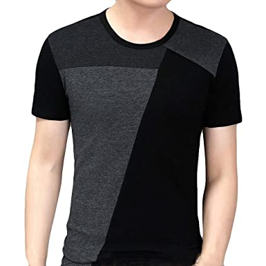 9923b47f939b Amazon.com  Sexyp-tops Men Patchwork Pullover