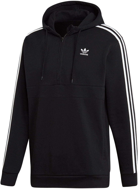 costo Appartenere giuria  Adidas - Felpa con cappuccio a 3 strisce Nero M: Amazon.it: Abbigliamento