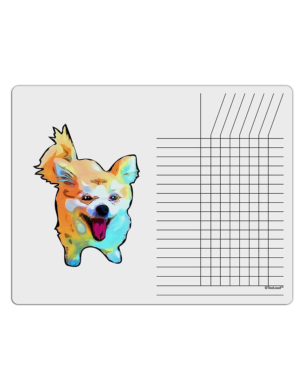 TooLoud Cartoon Pomeranian Chore List Grid Dry Erase Board