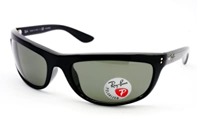 a9be4015b Image Unavailable. Image not available for. Color: Brandname Ray-Ban 4089  Balorama Style Black Crystal Green Polorized Sunglasses ...