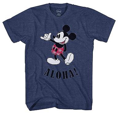 eca9be47 Amazon.com: Disney Mickey Mouse Hawaii Aloha Mickey Men's T-Shirt ...