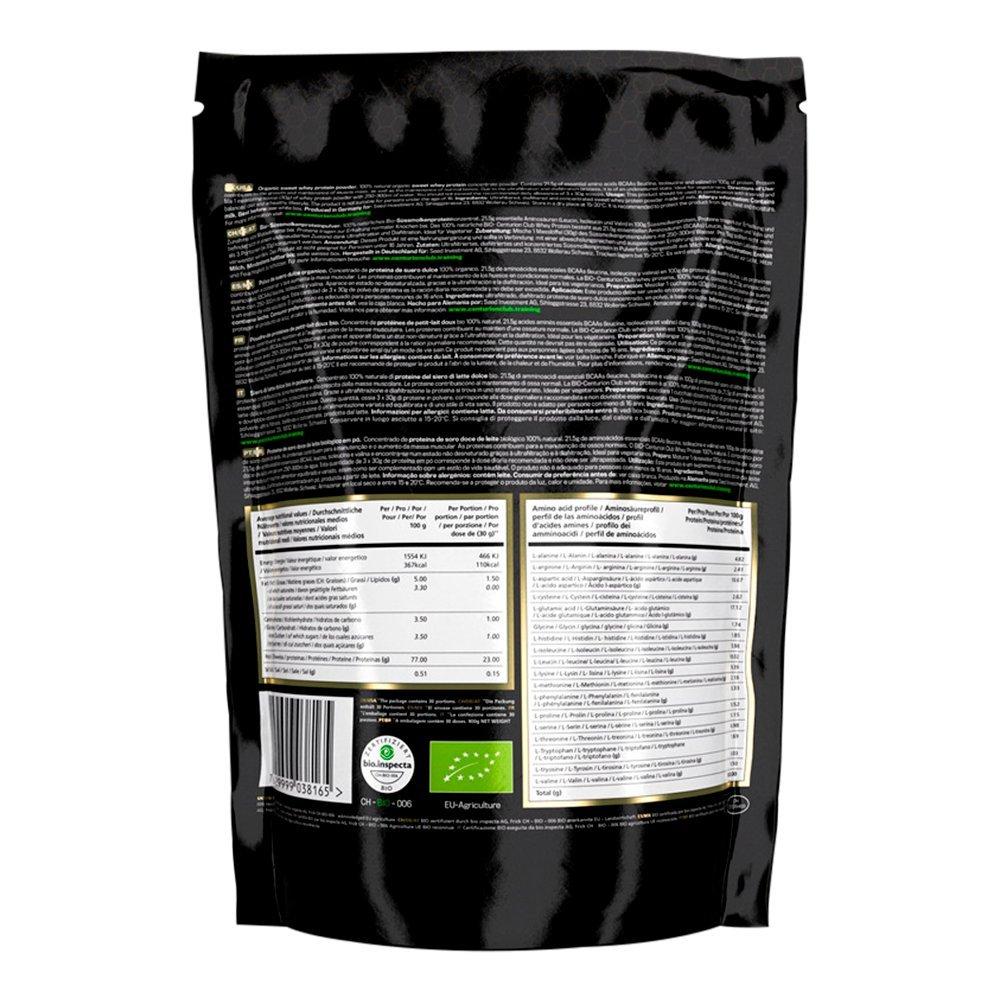 Centurion Club Nutrition Concentrado De Proteína De Suero De Leche Sin Sabor: Polvo 100% Natural, Alimentado Con Pasto, No Contiene OMG, Está Libre De Soja ...