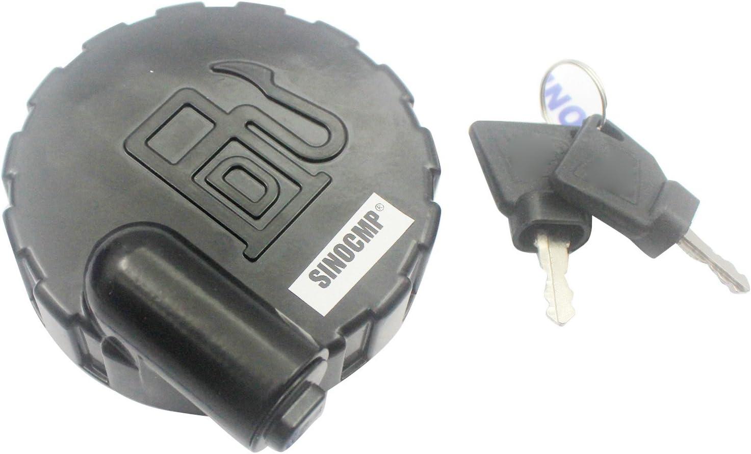3 mesi di garanzia, SINOCMP Diesel Tappo del serbatoio del carburante Assy per JCB con 2 chiavi