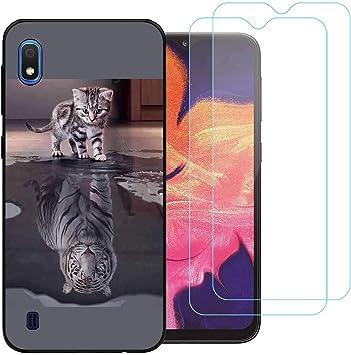 jrester Funda Samsung Galaxy A10 2019,Tigre Blanco Flexible Suave ...