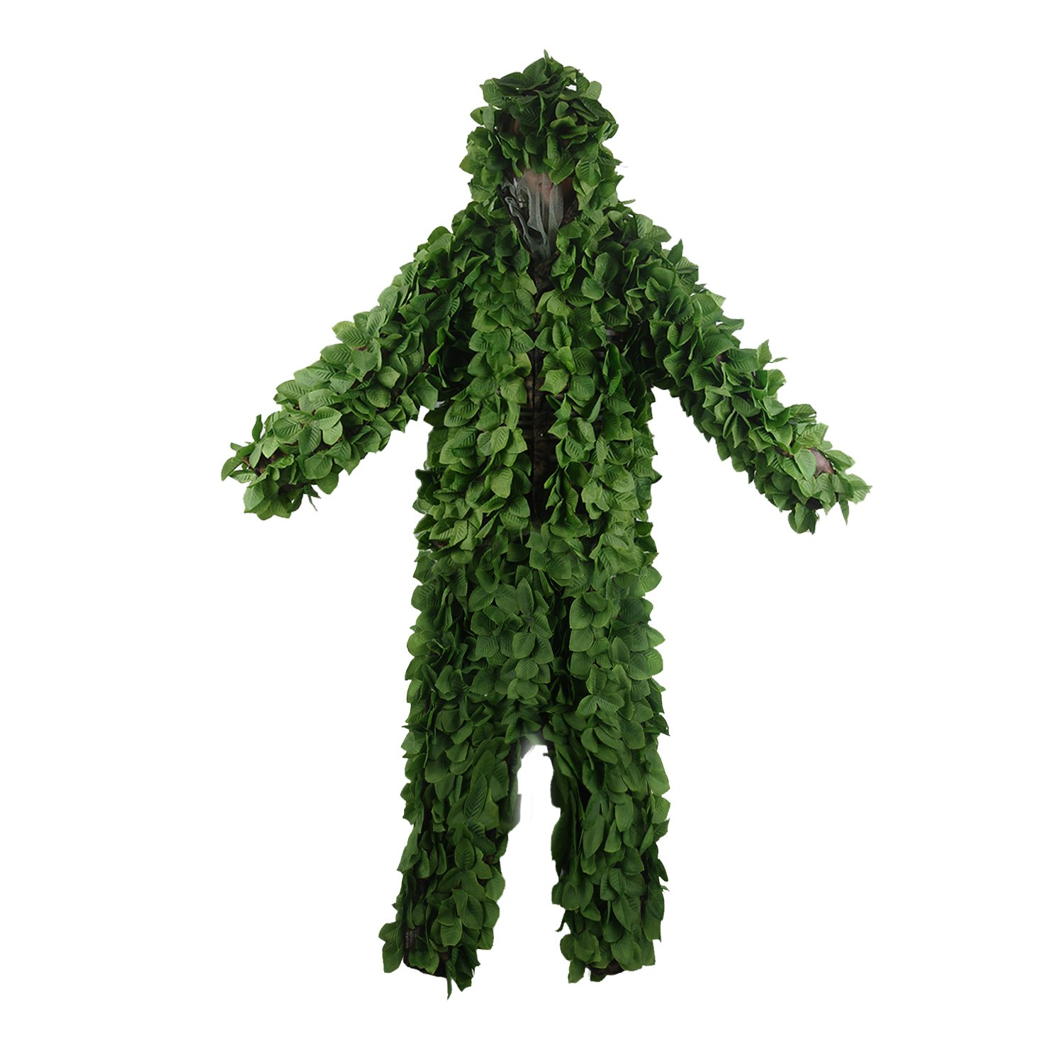 3D Green Leaf Hooded Ghillie Suit 1 8