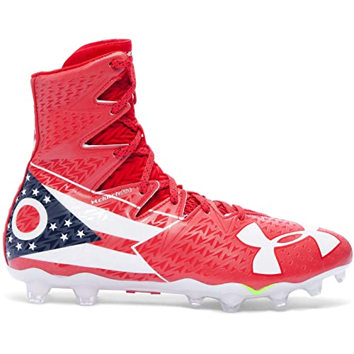 7aa229ee8 Image Unavailable. Image not available for. Color  Under Armour UA Highlight  MC LE Ohio Limited Edition Men s Football Cleats 12 US Red