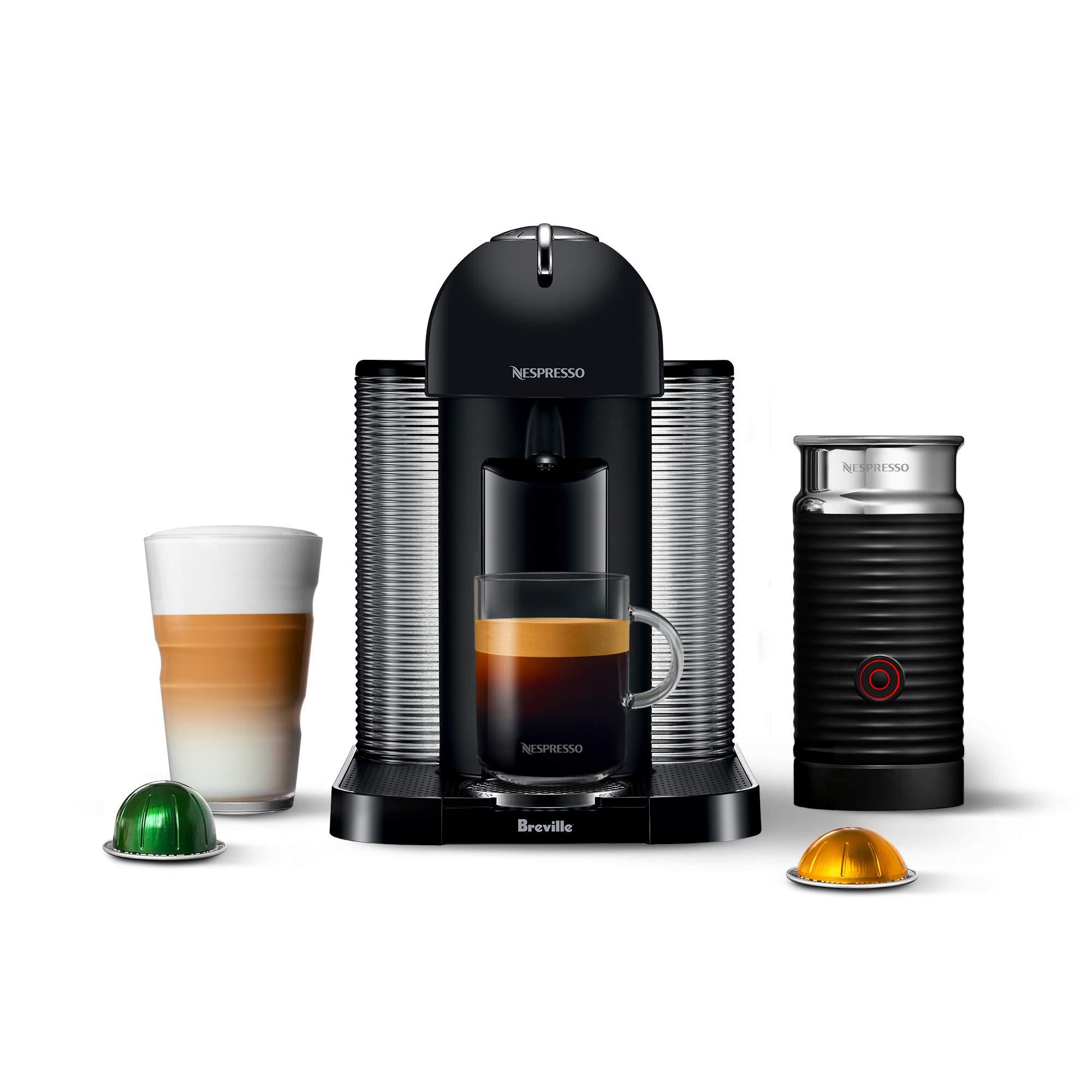 Breville BNV250BKM1BUC1 Vertuo Coffee and Espresso Machine, 19.25 x 11 x 15.25 in, Matte Black