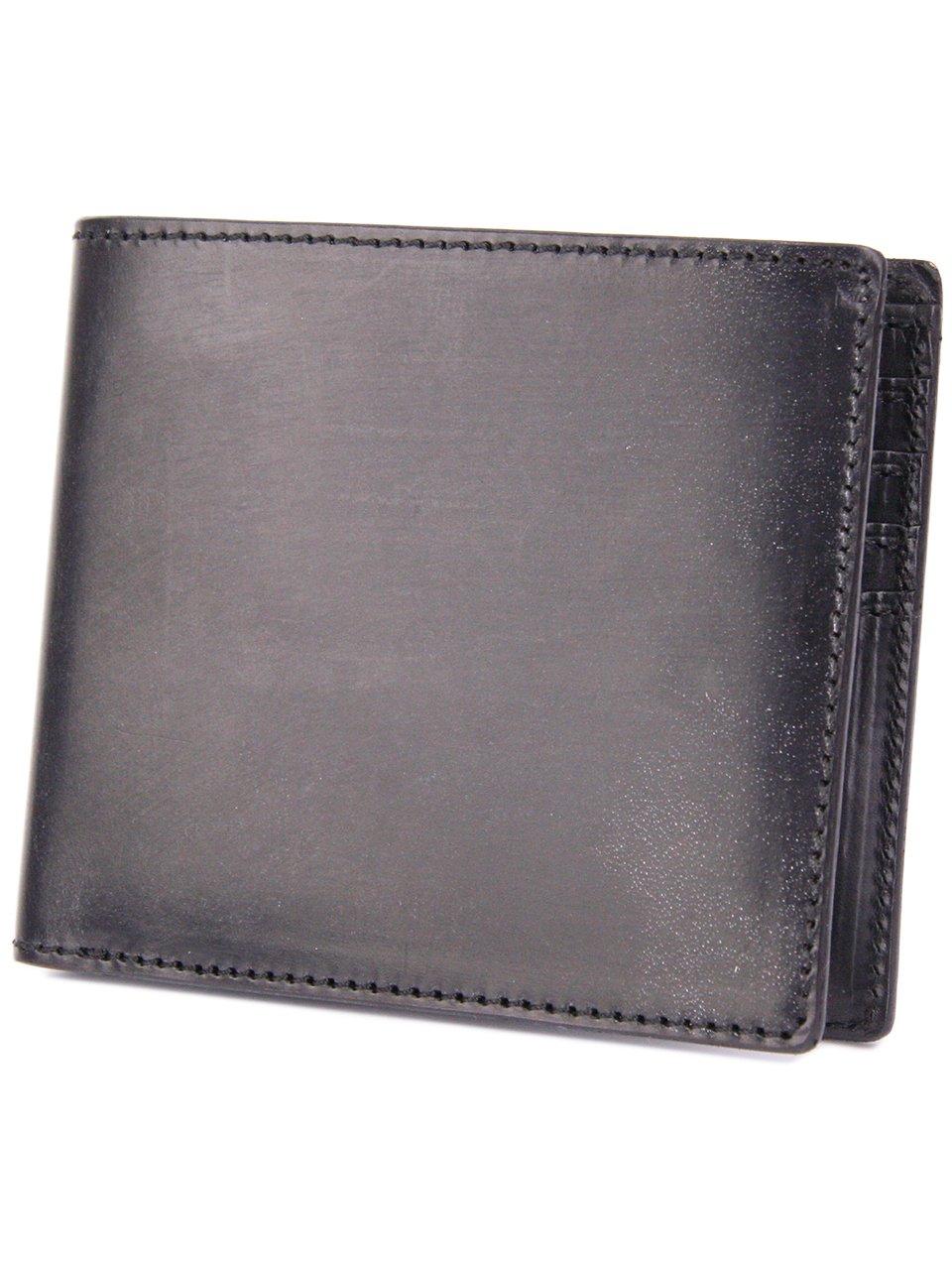 [コルボ] CORBO. -face Bridle Leatherフェイス ブライドルレザー シリーズ 二つ折り財布 1LD-0228 CO-1LD-0228 B006G4HGEW ブラック ブラック