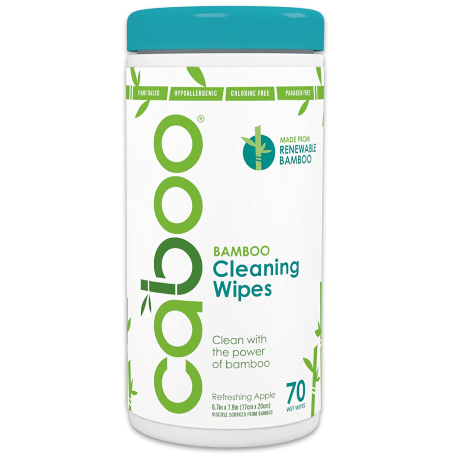Amazon.com: Caboo All Purpose Bamboo Cleaning Wipes, Eco Friendly ...