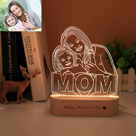 birthday, 3D light frame entry gift