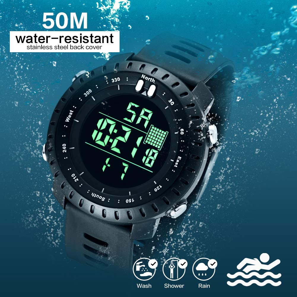 BROMEN Men Watch Digital Sports Watches Waterproof Military Watch with LED Backlight