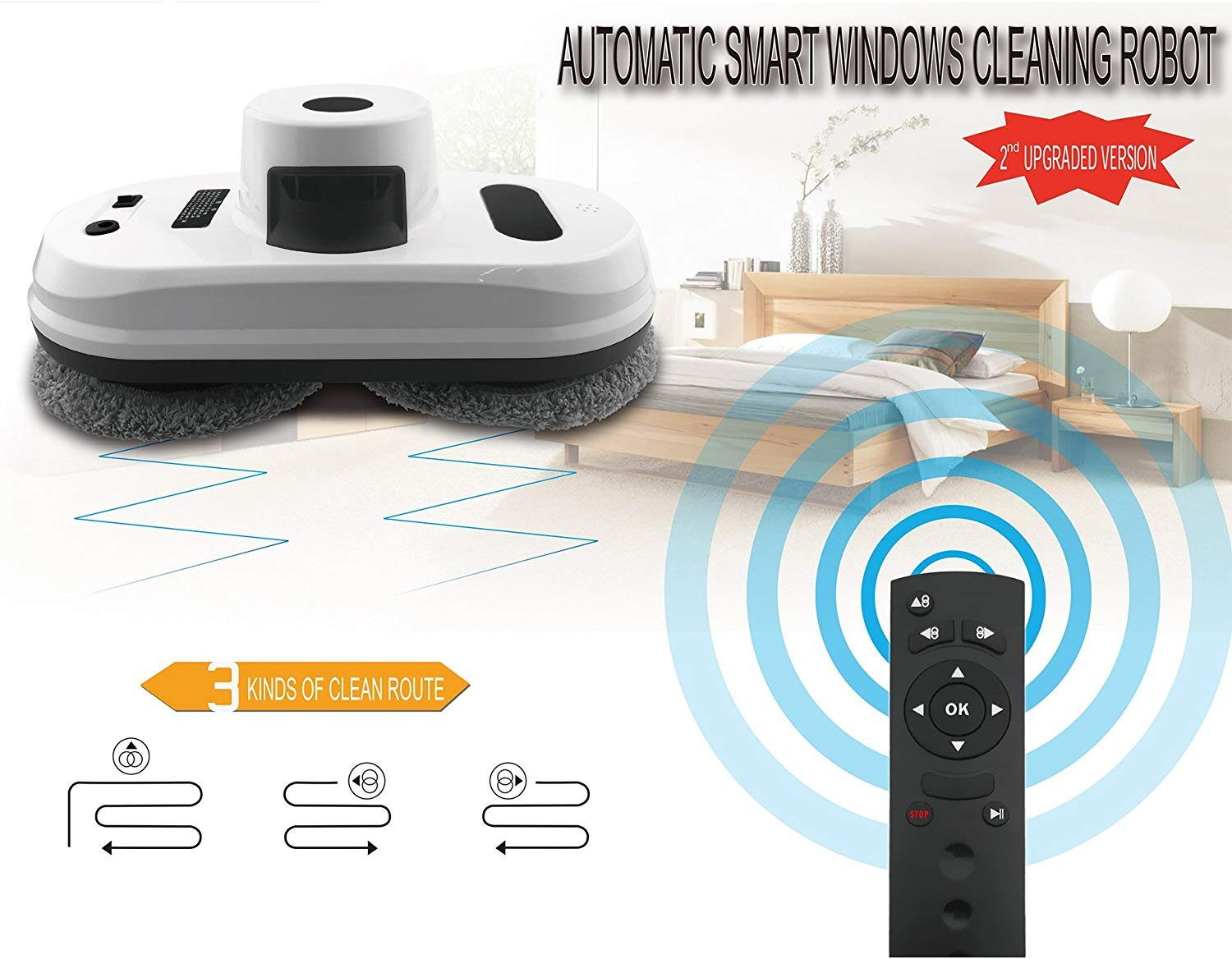 Judixy Window Cleaner Robot, Ultra-Fast Cleaning Speed for Inside and Outdoor by JUDIXY (Image #2)