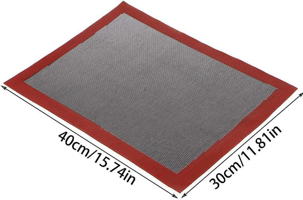Twjim Silicone Mats for Baking Perforated Baking Mat Silica Gel Non-Stick Mesh Non-Slip Washable Reusable Baking Bakery Sheets Oven Liner Tool for Cookie Bread