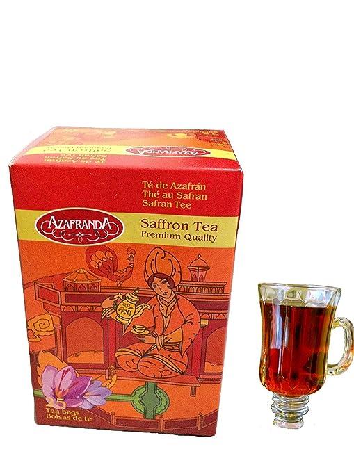 Azafranda Saffron Tea Premium Quality. 25 count Tea Bags.
