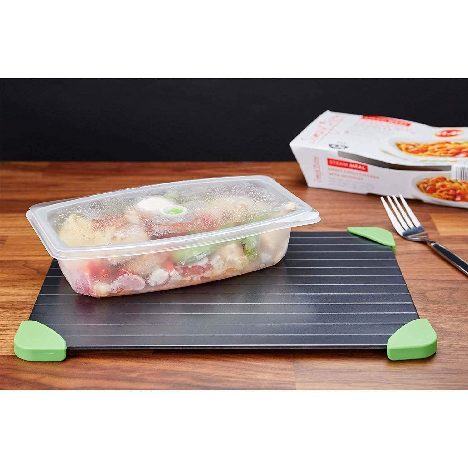 Cook@Home Fast Defrosting Tray - The Safest Way to Defrost Meat or Frozen Food Quickly Without Electricity, Microwave, Hot Water or Any Other Tools (Green)