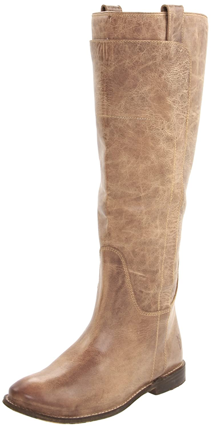 FRYE Women's Paige Tall Riding Boot B001VNBLLC 10 B(M) US|Tan Burnished Leather-77534