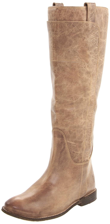 FRYE Women's Paige Tall Riding Boot B001VNBLCG 6 B(M) US|Tan Burnished Leather-77534