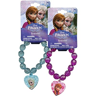 UPD Disney's Frozen Beaded Bracelet with Charm, Multicolor: Toys & Games