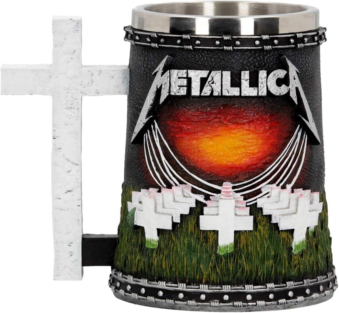 Nemesis Now Metallica-Master of Puppets Tankard, resina, negro, 14,5 cm