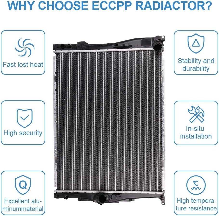 ECCPP Radiator CU2882 Replacement fit for 2007-2013 BMW 328i 128i 135i 328i xDrive 328xi Z4 CU2882