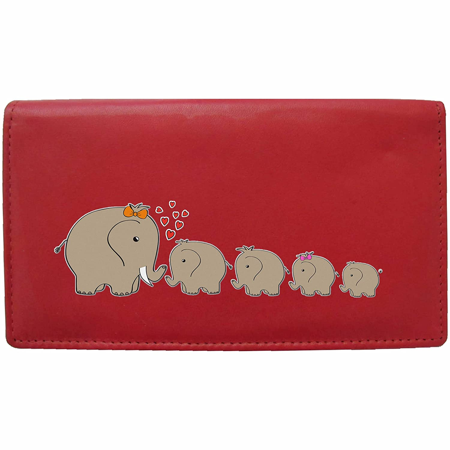 Elephant Family Klassek Real Leather Womans Purse Wallet 4 Calfs Sons Daughter (Black)
