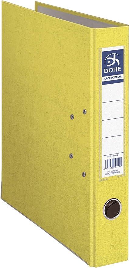 Dohe Archicolor - Archivador A4, lomo estrecho, color amarillo ...