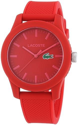 Lacoste 2010764 - Reloj analógico de pulsera para hombre, correa de silicona