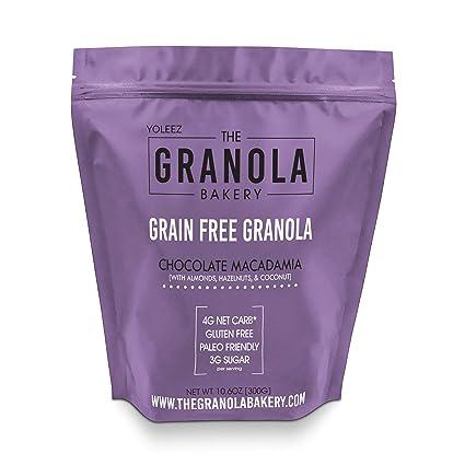 ELAN - Paleo libre de grano de granola, cereal de bajo carbo ...