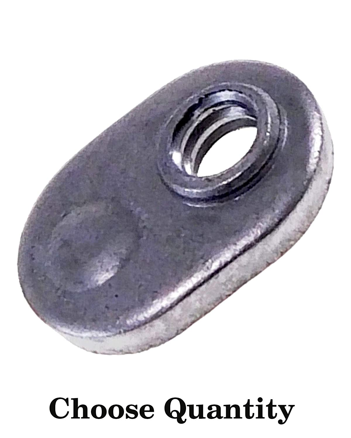 50 Spot Weld Nuts #8-32 Single Tab Weld Nut with Target Low Carbon Plain Steel Weld Nuts//Spot//Offset Hole