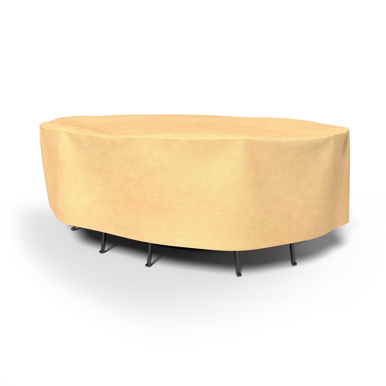 Umwirft Vierjahreszeiten-Oval Patio Tisch und Stühle Combo Cover p5 a17bg1