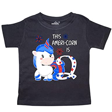 Amazon com: inktastic This Ameri-Corn is Two- Patriotic Unicorn