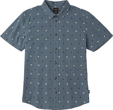 RVCA Hombre M506QRAN Manga Corta Camisa de Botones: Amazon.es: Ropa y accesorios